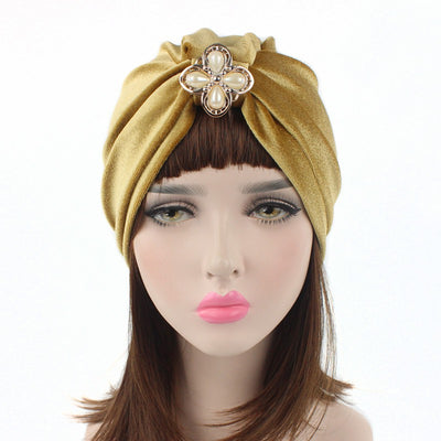 Sherry Turban_Turbans_Headcovers_Head covering_Gold