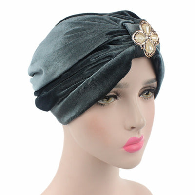 Sherry Turban_Turbans_Headcovers_Head covering_Gray