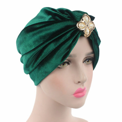 Sherry Turban_Turbans_Headcovers_Head covering_Green