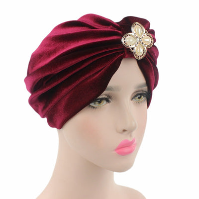 Sherry Turban_Turbans_Headcovers_Head covering_Red