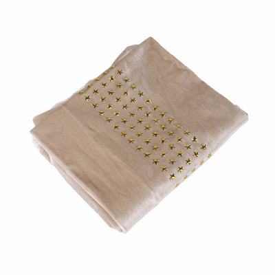 Star Velvet Headwrap_Headscarf_Headwear_Head covering_Headscarves_Beige