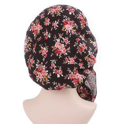 Taylor Cotton Bandanna_Turban_Head wrap_Cancer hat_Chemo hat_Beanie_hat_Floral_Multi-4