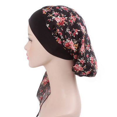 Taylor Cotton Bandanna_Turban_Head wrap_Cancer hat_Chemo hat_Beanie_hat_Floral_Multi-3