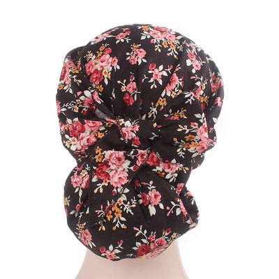 Taylor Cotton Bandanna_Turban_Headwrap_Cancer hat_Chemo hat_Beanie_hat_Floral_Multi-2