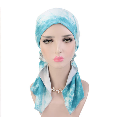 Tina Pre Tied Bandanna_Cancer hat_Chemo hat_Beanie_Mint-2