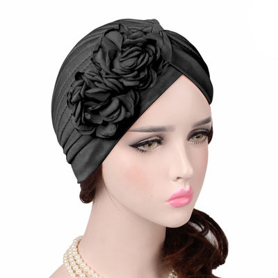 Virginia_Floral_Turban_Turbans_Head_covering_Modest_Headcovers_variants-black