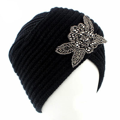 Flower Jewel Winter Turban