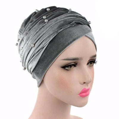 Headscarf, Head wrap, Head covering, Modest Chic, Gray