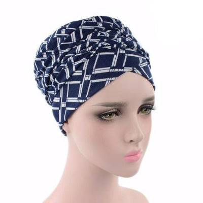 Headscarf-Head wrap-Head covering-Modest Chic-African-head wrap-Navy blue
