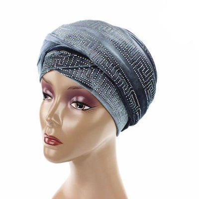 Ryan Diamante Headscarf Headscarf, Head wrap, Head covers, Head covering, Islamic Headscarf, Bun Headscarf, Gray