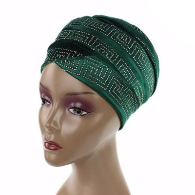 Ryan Diamante Headscarf Headscarf, Head wrap, Head covers, Head covering, Islamic Headscarf, Bun Headscarf, Green
