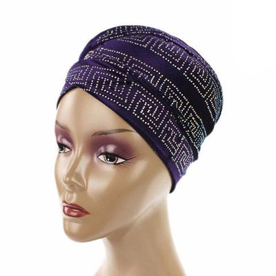 Ryan Diamante Headscarf Headscarf, Head wrap, Head covers, Head covering, Islamic Headscarf, Bun Headscarf, Purple