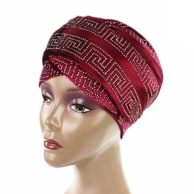 Ryan Diamante Headscarf Headscarf, Head wrap, Head covers, Head covering, Islamic Headscarf, Bun Headscarf, Red