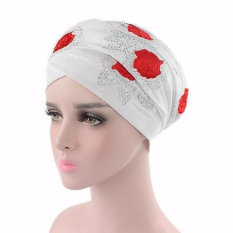 Red Rose Velvet Head wrap,  Headscarf, Head covers, Head covering, Islamic Headscarf, Bun Headscarf, White