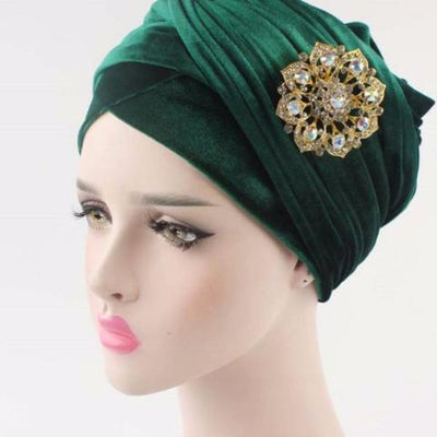 Turban, Green Headscarf, Head scarf, HeadWrap, Hijab