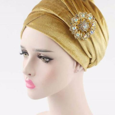 Turban, Gold Headscarf, Head scarf, HeadWrap, Hijab