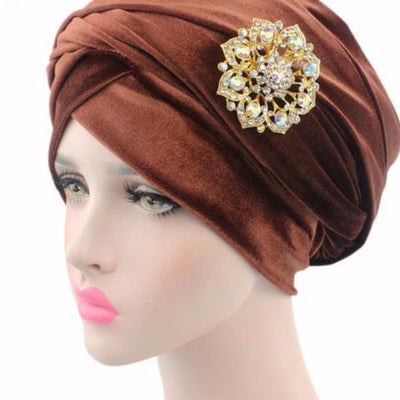 Floral Jewel Headwrap