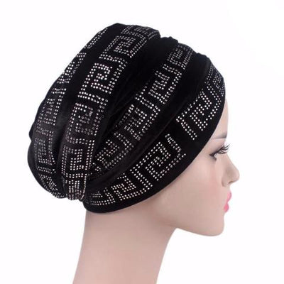 Ryan Diamante Headscarf Headscarf, Head wrap, Head covers, Head covering, Islamic Headscarf, Bun Headscarf, Black