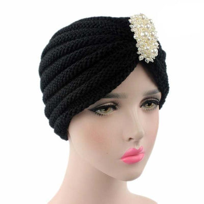 Turban, Turbans, Head covering, Modest, Winter Black Turban