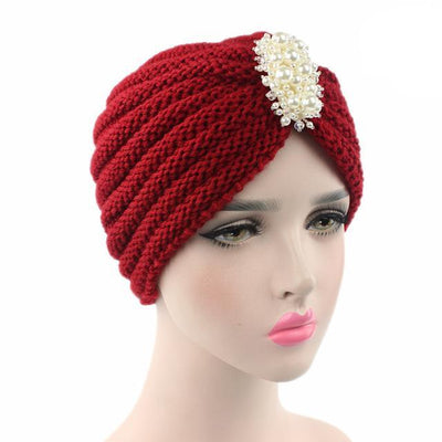 Turban, Turbans, Head covering, Modest, Winter Red Turban