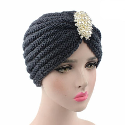 Turban, Turbans, Head covering, Modest, Winter Gray Turban