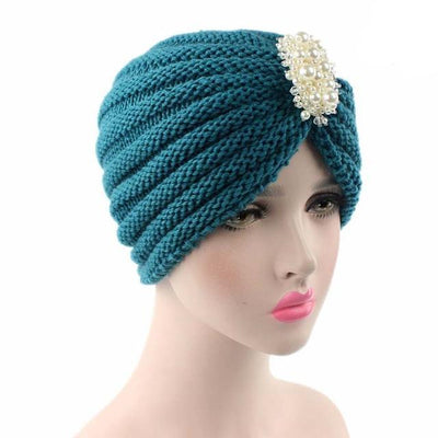 Turban, Turbans, Head covering, Modest, Winter Blue Turban