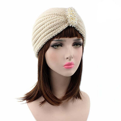Turban, Turbans, Head covering, Modest, Winter Beige Turban