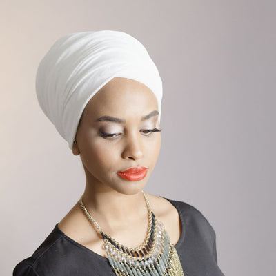 Headscarf, Head wrap, Head covering, Modest Chic, White HeadscarfVelvet Headwrap_Headwear_Headscarf_Headscarves_Hijab_White
