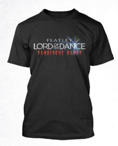 Lord of The Dance (Logo Landscape) Mens Black T-shirt
