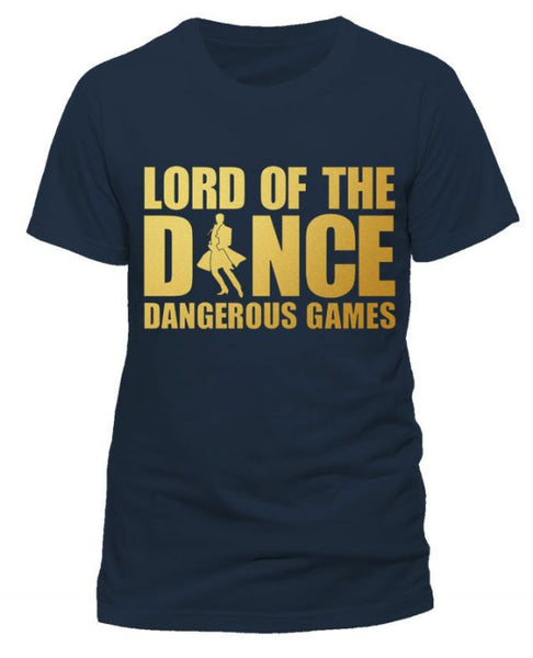 Lord of The Dance (New Gold Logo) Mens Navy T-shirt