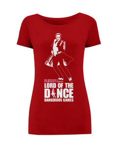 Lord Of The Dance (Michael) Cranberry Ladies T-Shirt