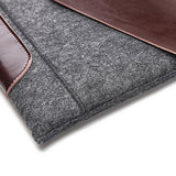 Leather & Felt Tablet Envelope-Style Sleeve for Macbook / iPad Pro