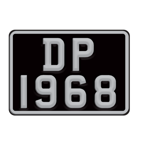 Deep Purple (DP Bike Plate) Black/Silver