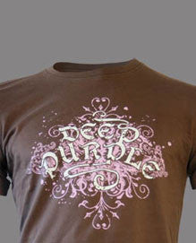 Deep Purple (Gothic Vintage) Brown T-Shirt