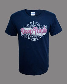 Deep Purple (Ornate) Navy T-Shirt