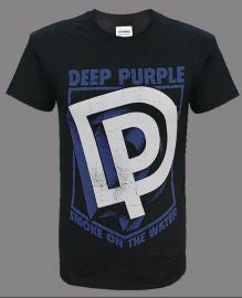 Deep Purple (DP Shield) Black T-Shirt (Purple Print)