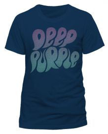 Deep Purple (Logo Bubble 2015 Tour) Navy T-Shirt