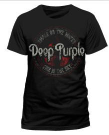 Deep Purple (Fire in the Sky 2015 Tour) Black T-shirt