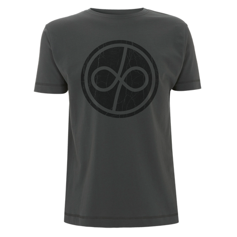 Deep Purple (Infinite Distressed Logo) Charcoal T-Shirt