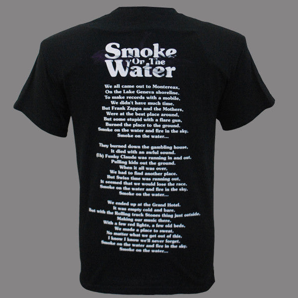Deep Purple (Smoke) Black T-Shirt