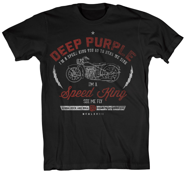 Deep Purple (Speed King See Me Fly - UK Tour 2017) Black T-shirt