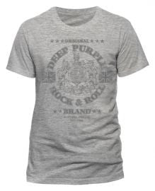 Deep Purple (Rock N Roll Brand) Sport Grey T-shirt
