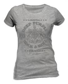 Deep Purple (Rock N Roll Brand) Sport Grey Ladies T-shirt