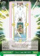 CCS/WX01-053 Clear Card: RECORD