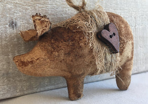 primitive folk art pig