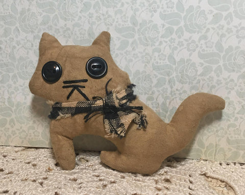 primitive cat ornament