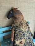 Primitive Folk Art Animal Doll - Primitive Sheep Doll