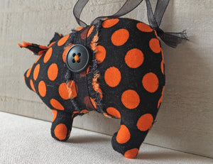 fabric pig ornament