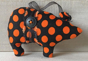 orange polka dot ornament