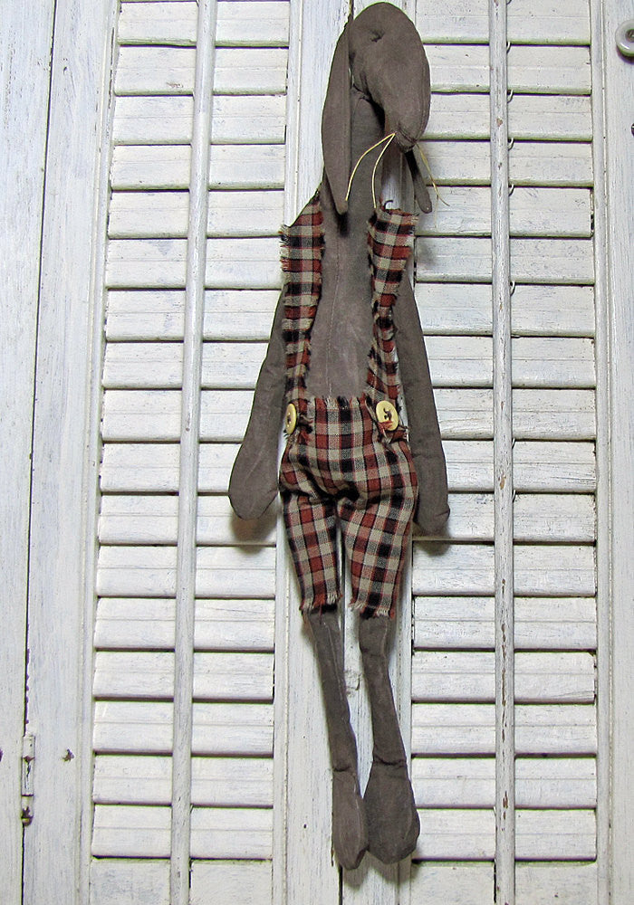 Primitive Folk Art Rabbit Doll - Moe Bunkins Primitive Rabbit